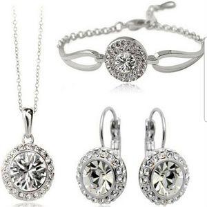 Jewelry - Brand New 3pc Crystal Bridal Jewelry Set